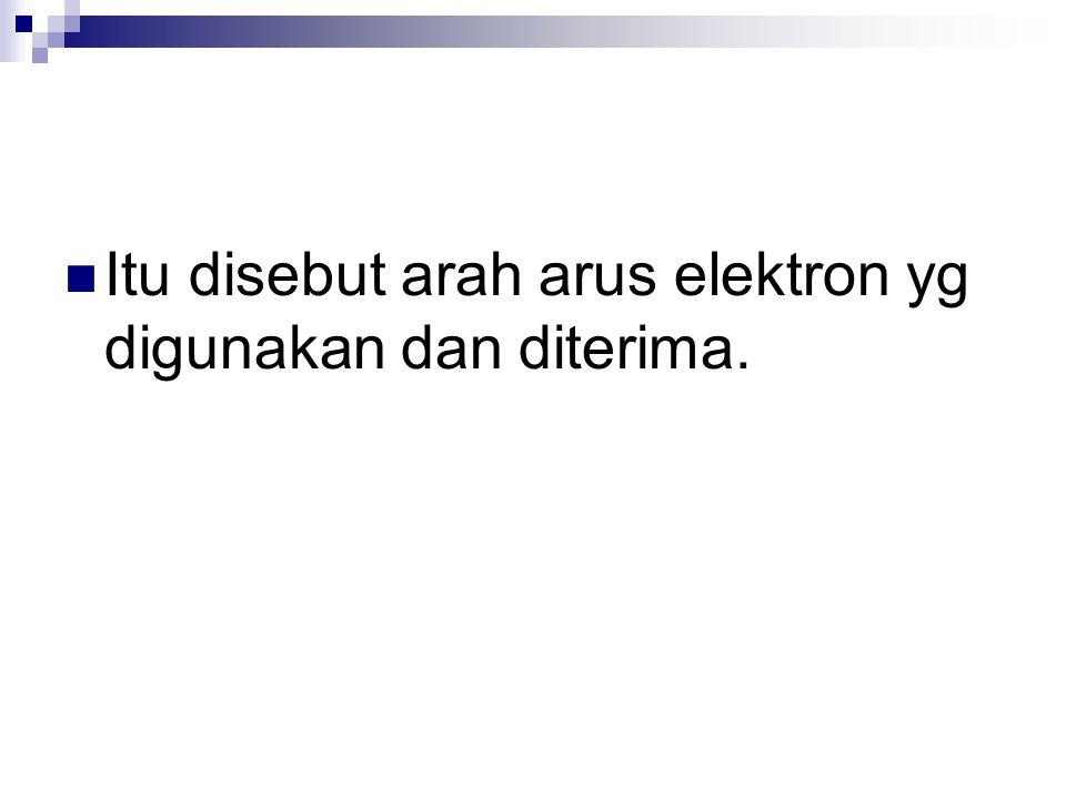 Itu disebut arah arus elektron yg digunakan dan diterima.