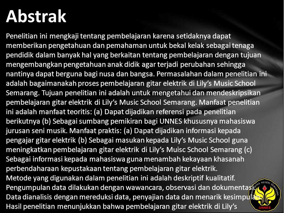 Kata Kunci pembelajaran, gitar