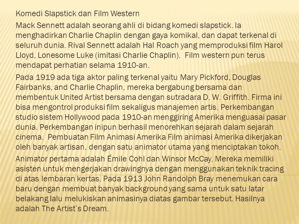 Komedi Slapstick dan Film Western Mack Sennett adalah seorang ahli di bidang komedi slapstick.