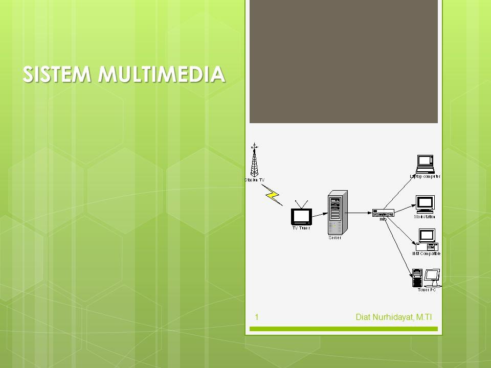 Chapter 2 Pendahuluan  Definisi Multimedia 1.banyak media yang di bawah kendali komputer 2.