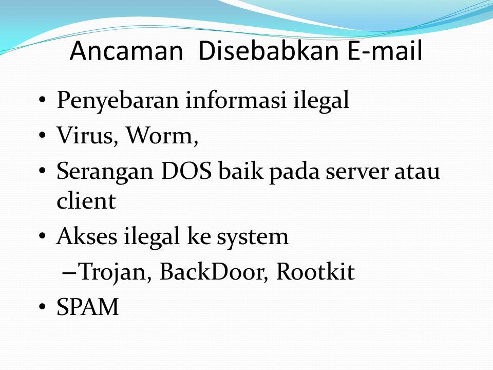 Mengamankan email Menggunakan model otentikasi – GPG SSL/TLS S/MIME