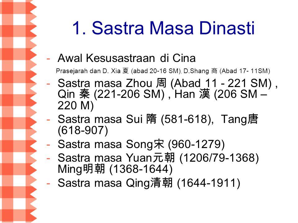 Awal Kesusastraan di Cina Prasejarah dan D.