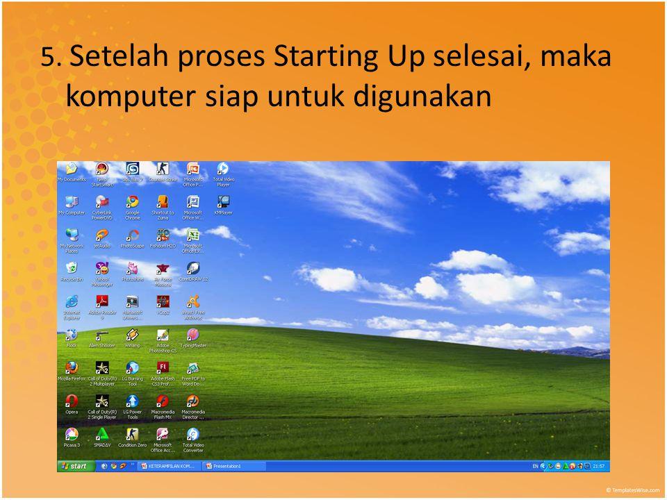 5. Setelah proses Starting Up selesai, maka komputer siap untuk digunakan