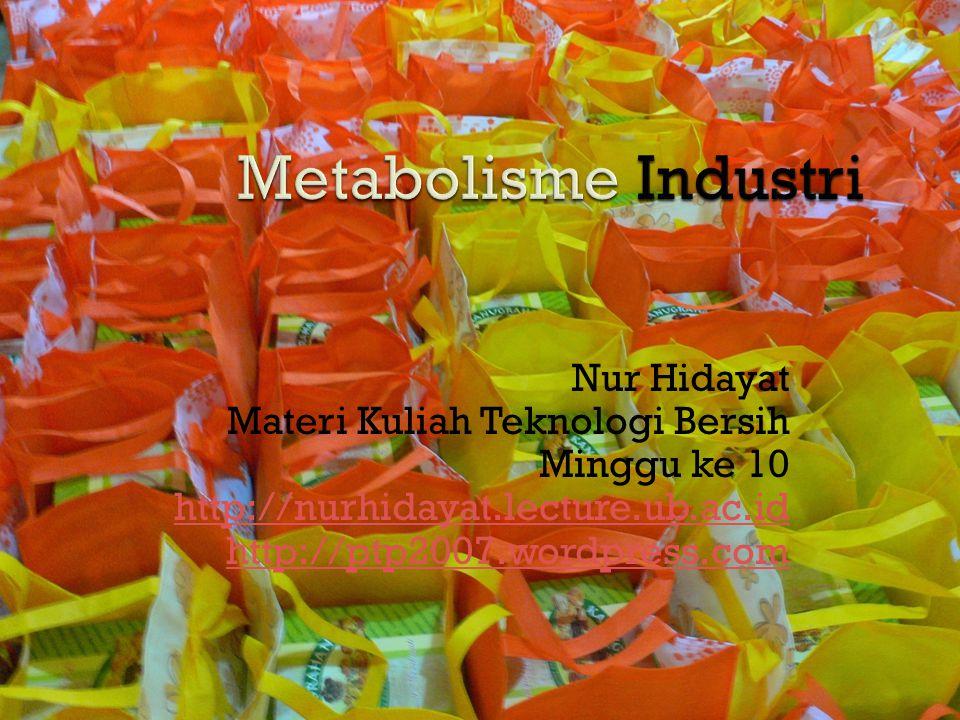 Nur Hidayat Materi Kuliah Teknologi Bersih Minggu ke 10 http://nurhidayat.lecture.ub.ac.id http://ptp2007.wordpress.com