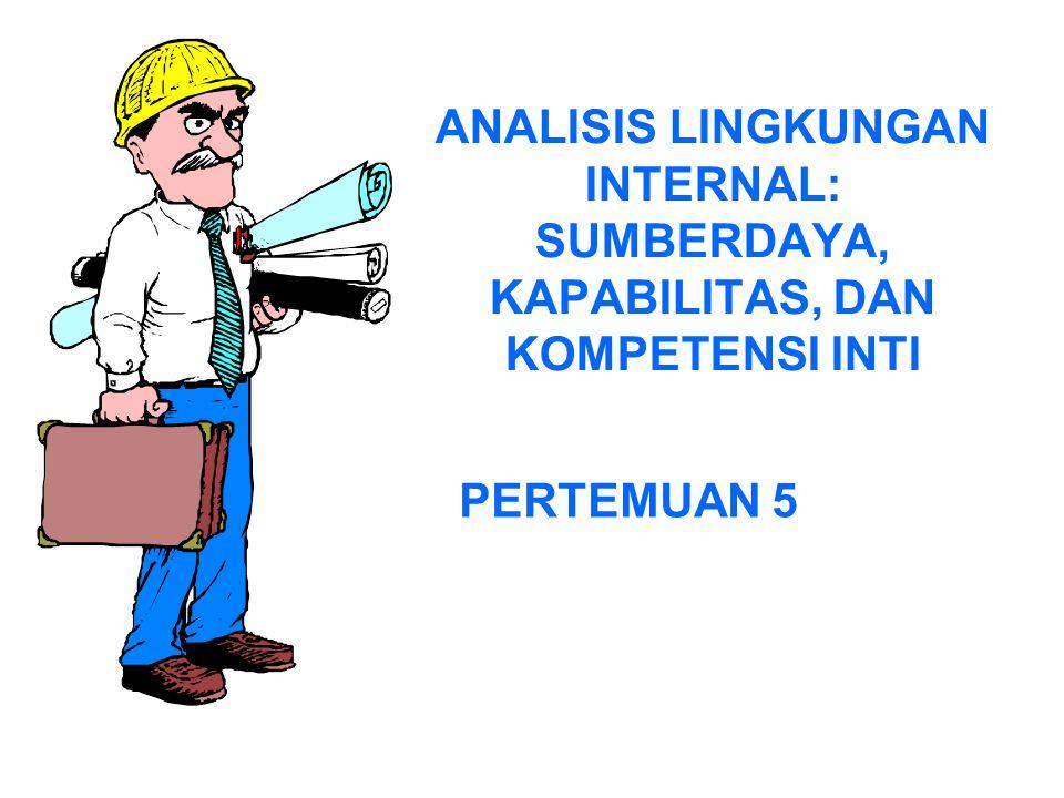 ANALISIS LINGKUNGAN INTERNAL: SUMBERDAYA, KAPABILITAS, DAN KOMPETENSI INTI PERTEMUAN 5