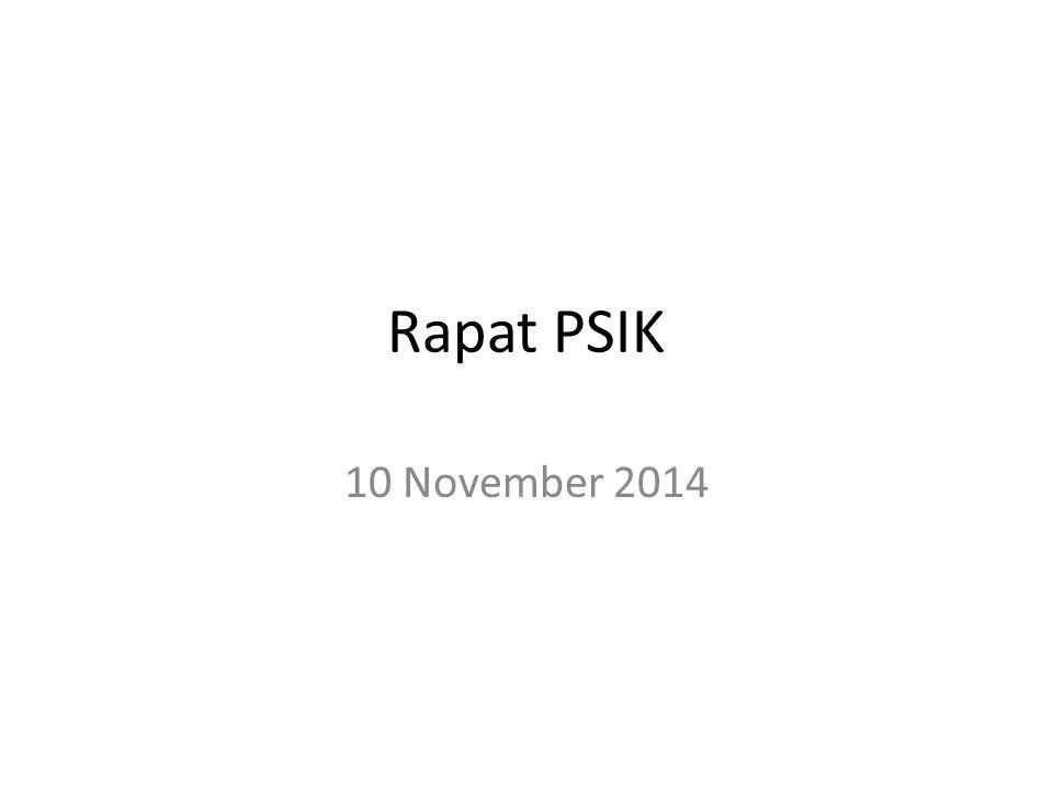 Rapat PSIK 10 November 2014
