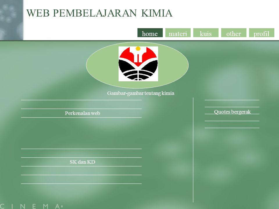 profil WEB PEMBELAJARAN KIMIA Pilihan materi otherkuismaterihome Materi yang bersangkutan nextprev.