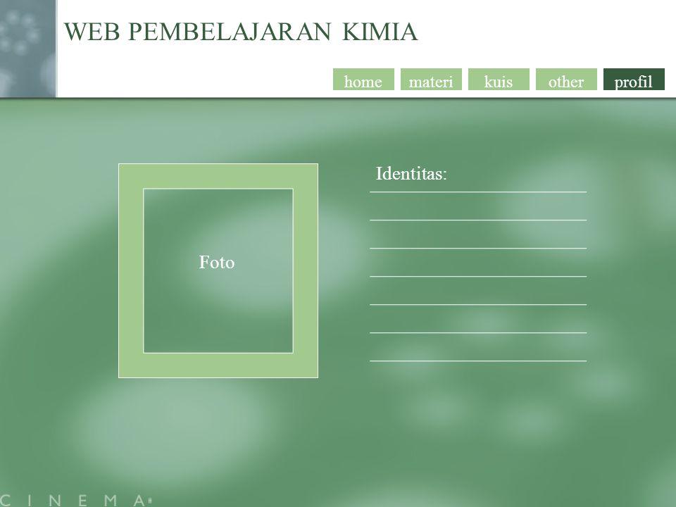 profil WEB PEMBELAJARAN KIMIA otherkuismaterihome Foto Identitas: