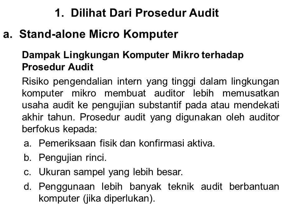 1.Dilihat Dari Prosedur Audit a.Stand-alone Micro Komputer Dampak Lingkungan Komputer Mikro terhadap Prosedur Audit Risiko pengendalian intern yang ti