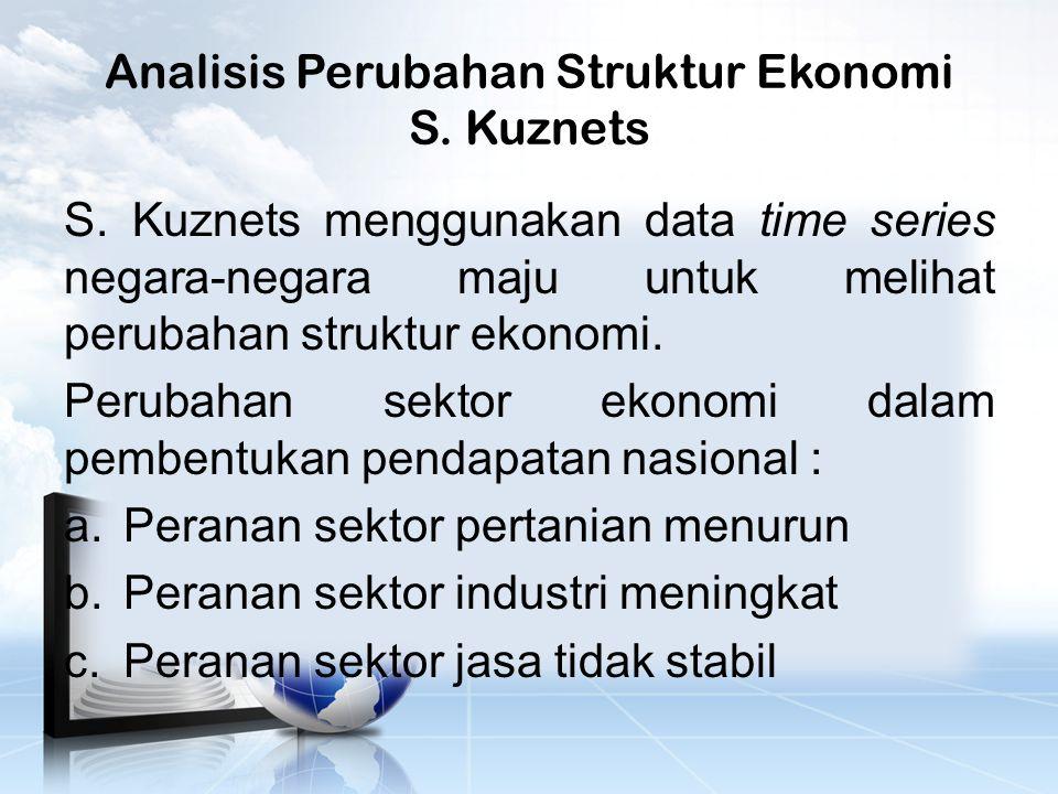 Analisis Perubahan Struktur Ekonomi S.Kuznets S.