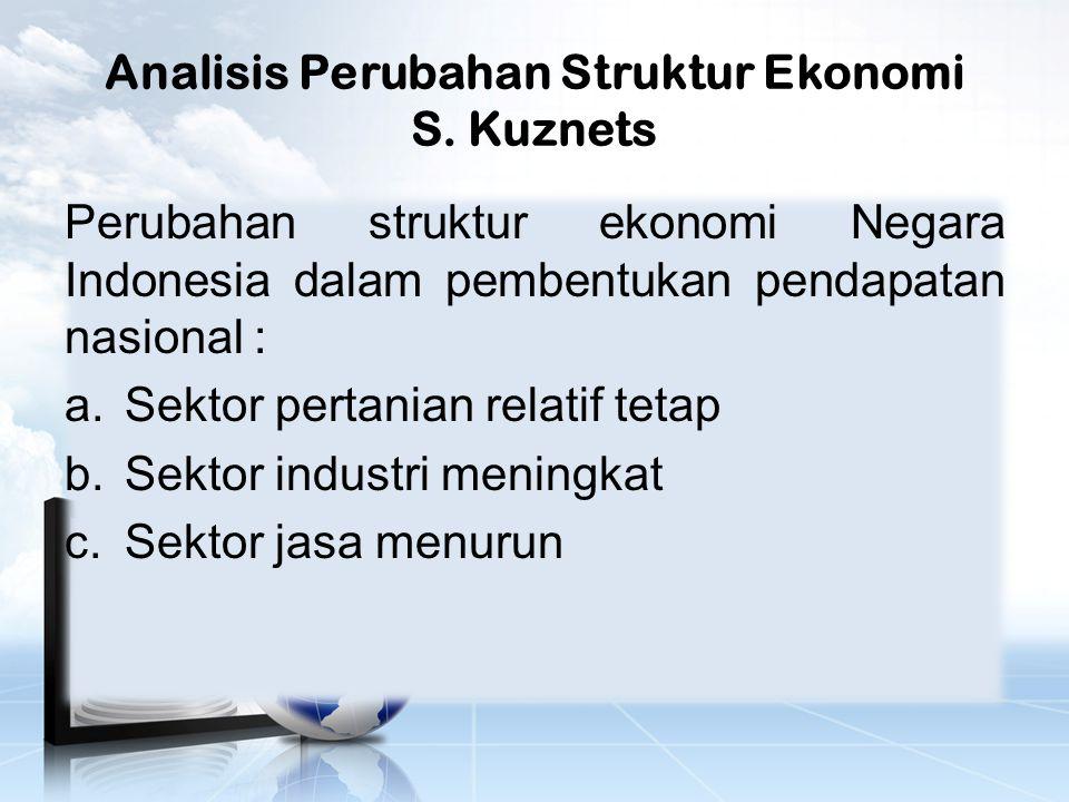Analisis Perubahan Struktur Ekonomi S.