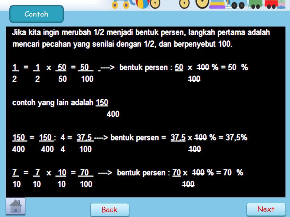 Persen adalah cara lain untuk menyatakan bilangan pecahan yang berpenyebut seratus ( 100 ).