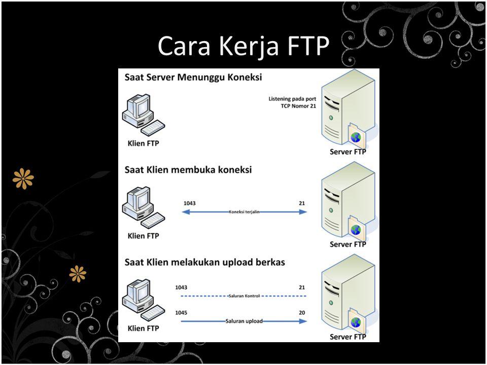 Macam Serangan Pada FTP FTP sebenarnya cara yang tidak aman dalam mentransfer suatu file karena file dikirimkan tanpa di-enkripsi terlebih dahulu tetapi melalui clear text.
