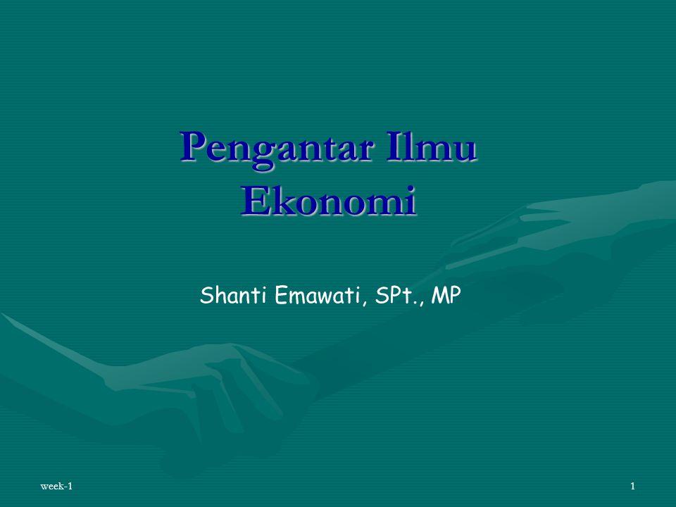 week-11 Pengantar Ilmu Ekonomi Shanti Emawati, SPt., MP