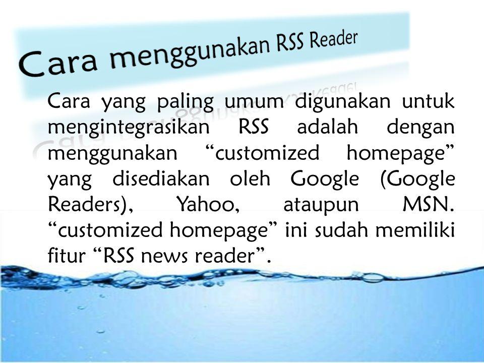 Fungsi RSS Reader