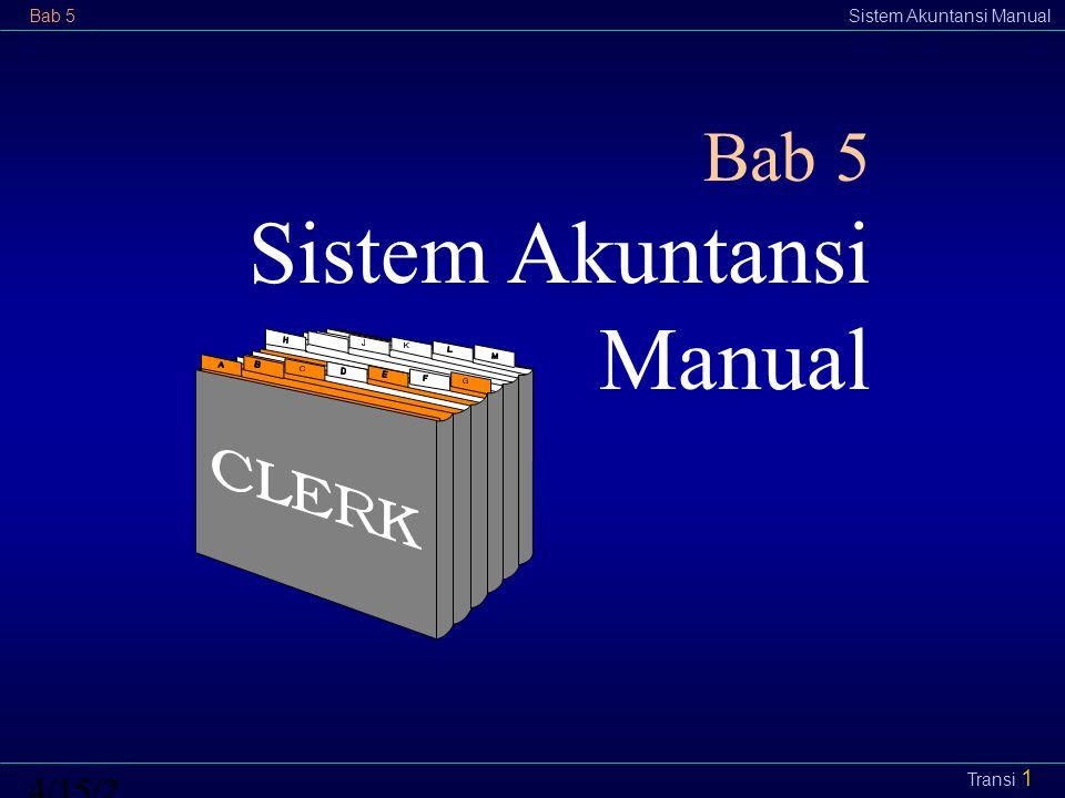 Bab 5Sistem Akuntansi Manual4/15/2015 Transi 1 Bab 5 Sistem Akuntansi Manual