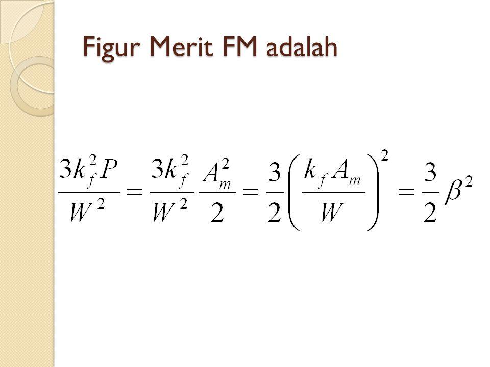 Figur Merit FM adalah