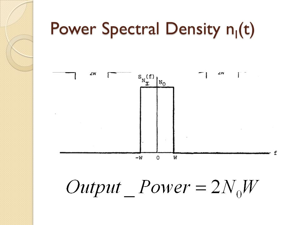 Power Spectral Density n I (t)