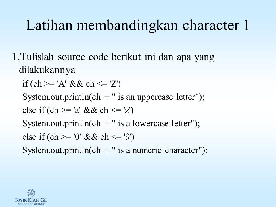 Method pada java.lang.Character