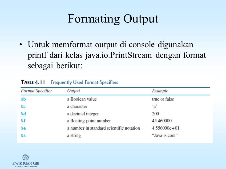 String ke number dan sebaliknya Untuk mengkonversi suatu string ke number dapat digunakan fungsi sebagai berikut: –Integer: Integer.parseInt(String s)