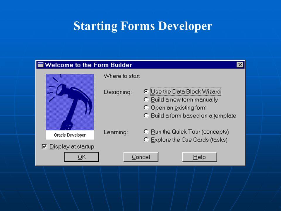 Starting Forms Developer
