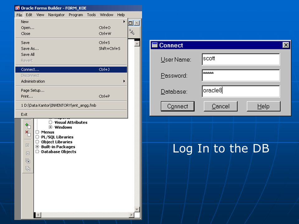 Log In to the DB