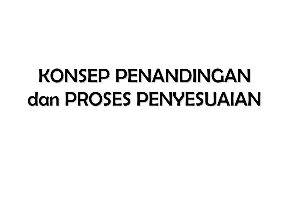 KONSEP PENANDINGAN dan PROSES PENYESUAIAN