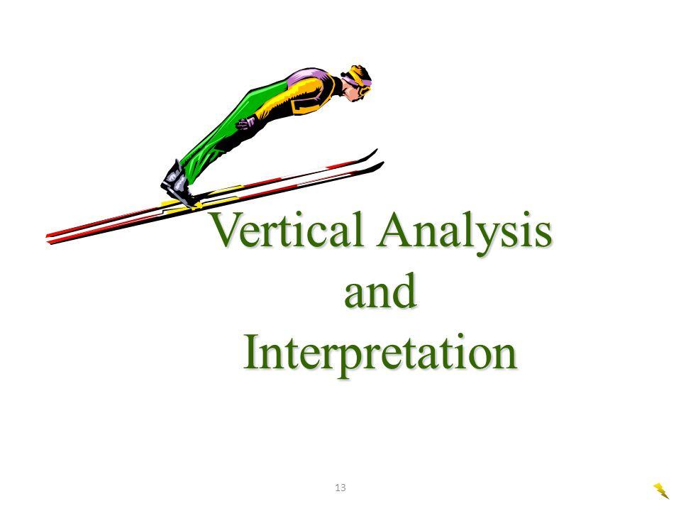 13 Vertical Analysis and Interpretation