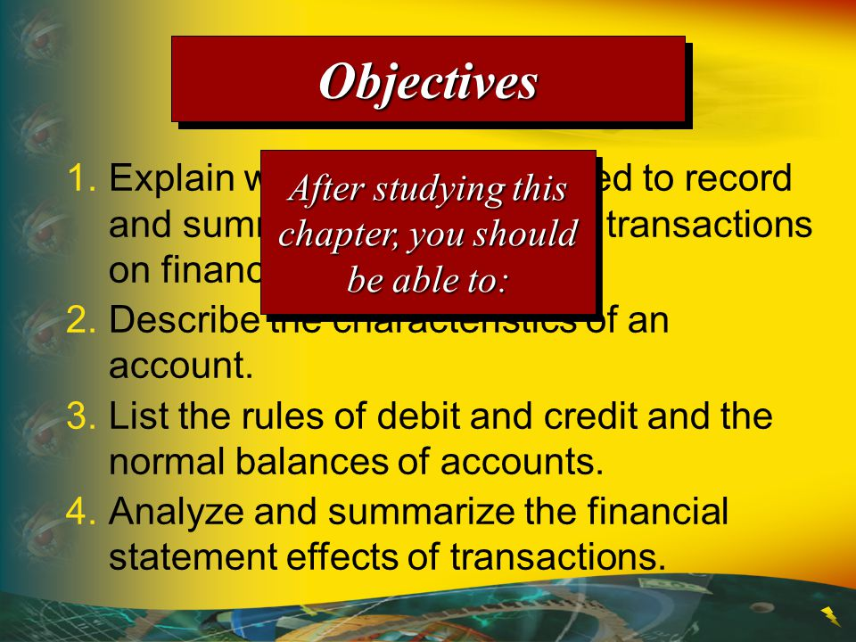 1.Explain why accounts are used to record and summarize the effects of transactions on financial statements.