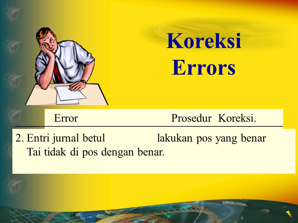 Error Correction Procedure 1.Journal entry is incorrectDraw a line through the error but not posted.and insert correct title or amount.