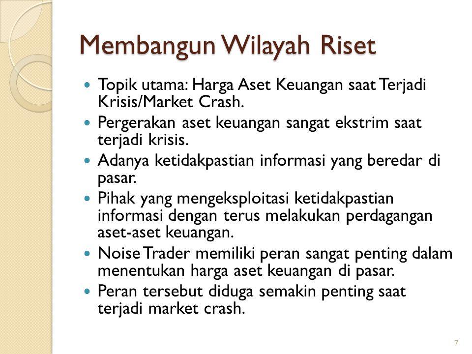 Membangun Wilayah Riset Topik utama: Harga Aset Keuangan saat Terjadi Krisis/Market Crash. Pergerakan aset keuangan sangat ekstrim saat terjadi krisis