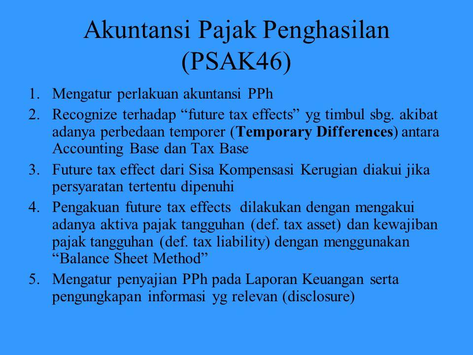 I/S Presentation Catatan : 1.Penghitungan deferred tax tidak dilakukan per masing-masing account, tetapi secara keseluruhan account 2.Ilustrasi hanya untuk simplifikasi