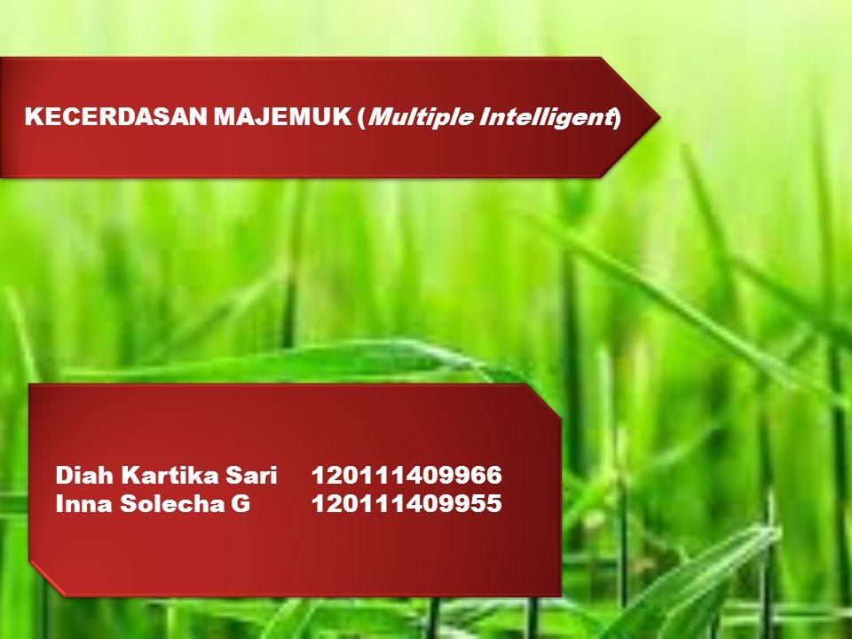KECERDASAN MAJEMUK (Multiple Intelligent) Diah Kartika Sari 120111409966 Inna Solecha G120111409955 Diah Kartika Sari 120111409966 Inna Solecha G120111409955
