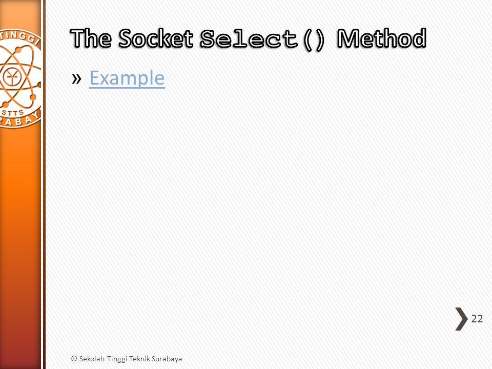 » Example Example 22 © Sekolah Tinggi Teknik Surabaya