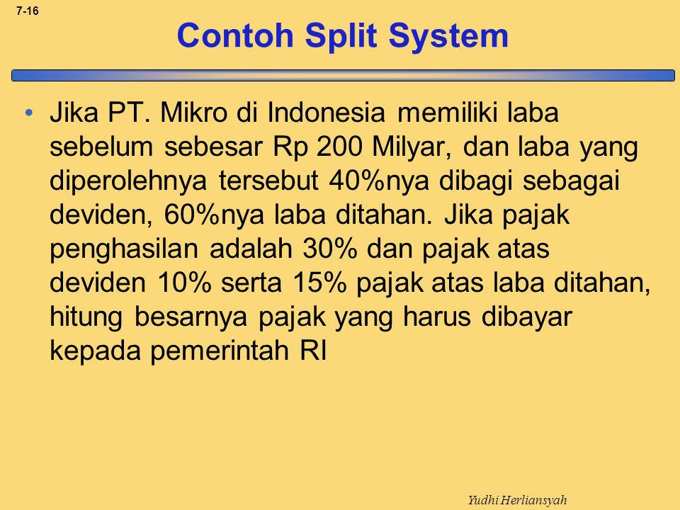 Yudhi Herliansyah 7-16 Contoh Split System Jika PT.