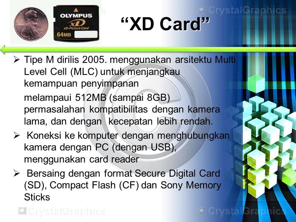  Tipe M dirilis 2005. menggunakan arsitektu Multi Level Cell (MLC) untuk menjangkau kemampuan penyimpanan melampaui 512MB (sampai 8GB) permasalahan k