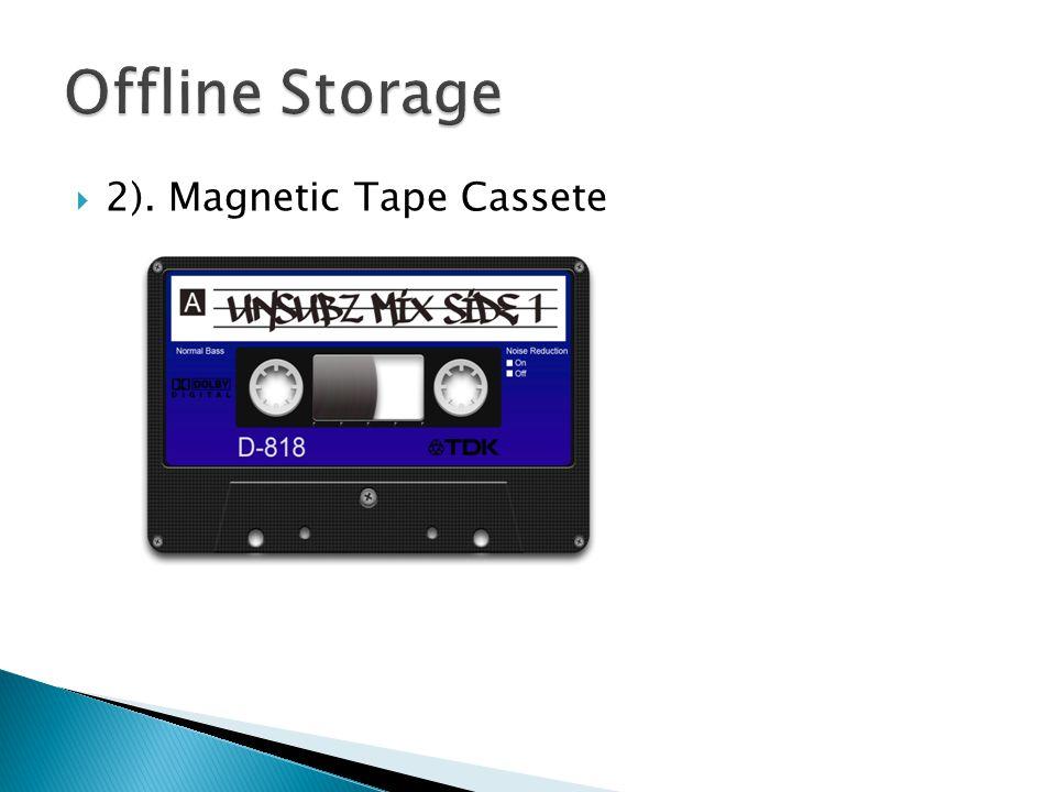  2). Magnetic Tape Cassete