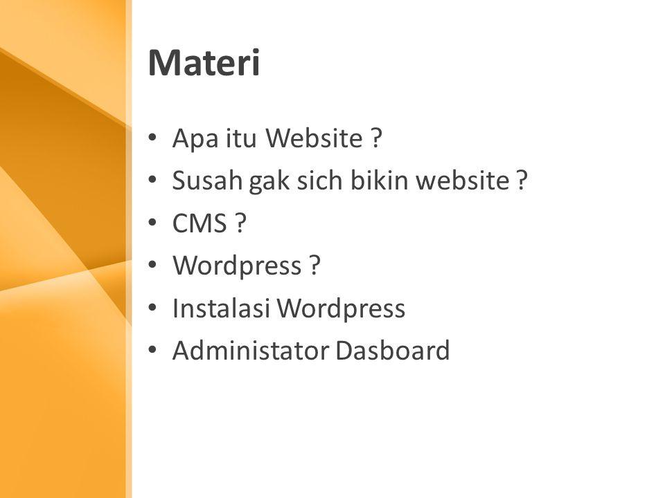 Materi Apa itu Website . Susah gak sich bikin website .