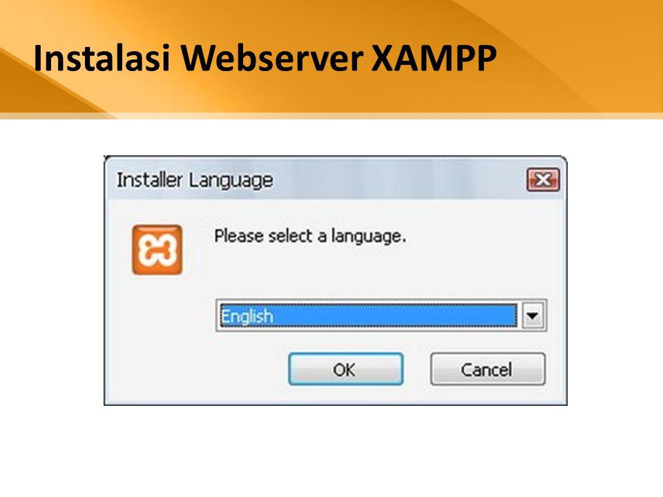 Instalasi Webserver XAMPP