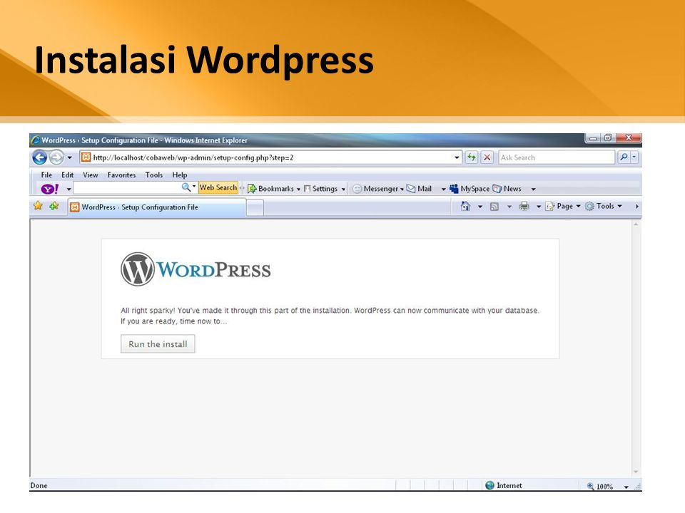 Instalasi Wordpress