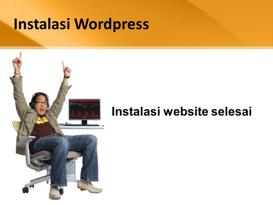 Instalasi Wordpress Instalasi website selesai