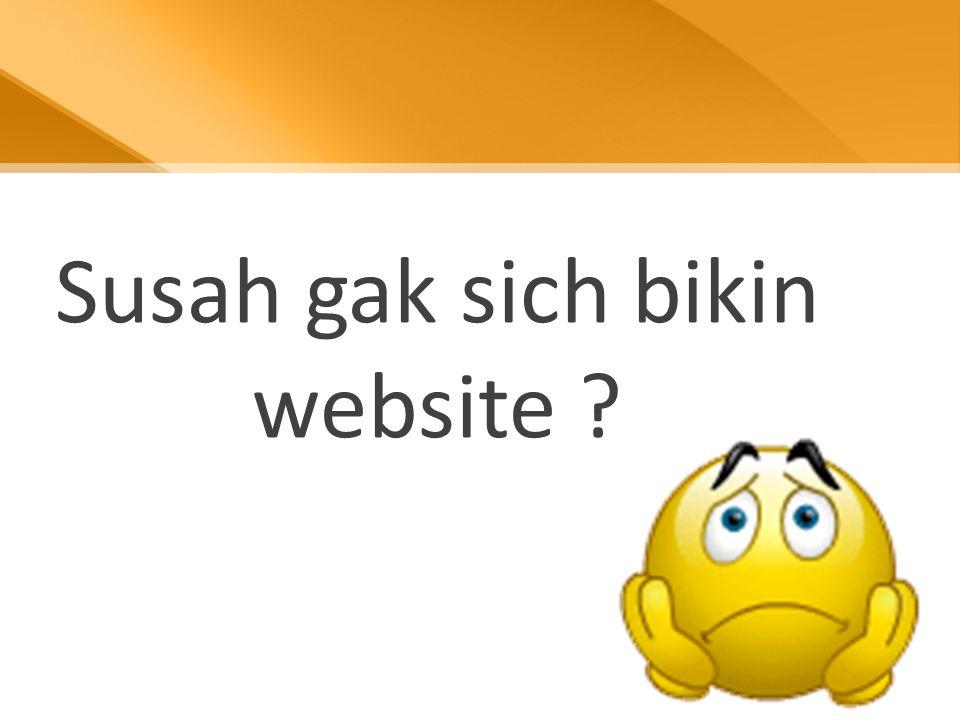 Susah gak sich bikin website ?