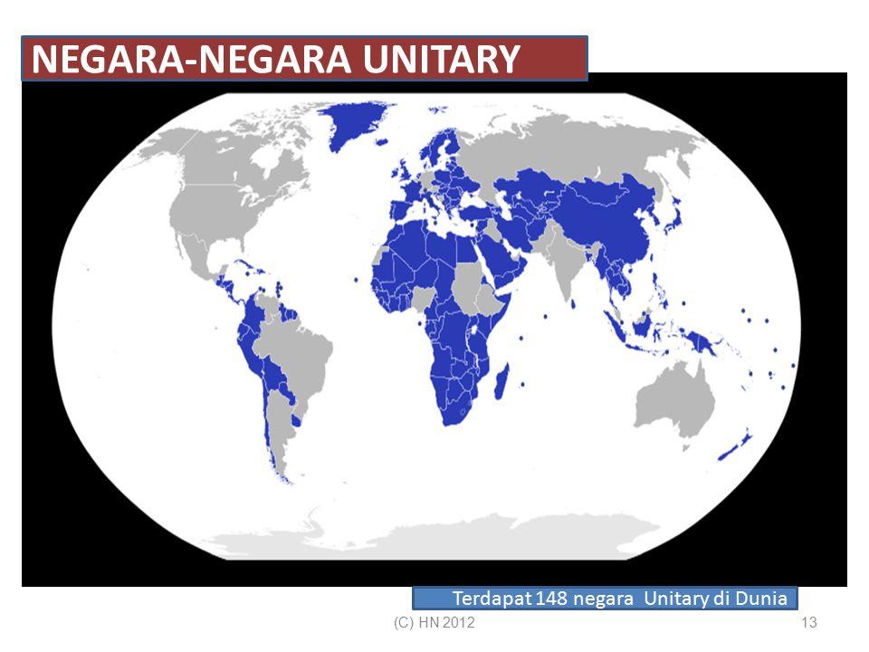 13 NEGARA-NEGARA UNITARY Terdapat 148 negara Unitary di Dunia (C) HN 2012