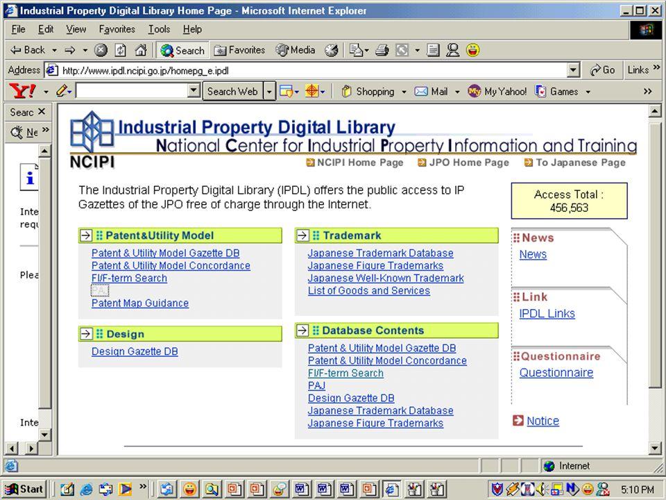 Individual Perusahaan Universitas Institusi Penelitian Industri Intellectual Property Office Pemakai informasi paten Dunia = 5 juta dokumen (free). Be