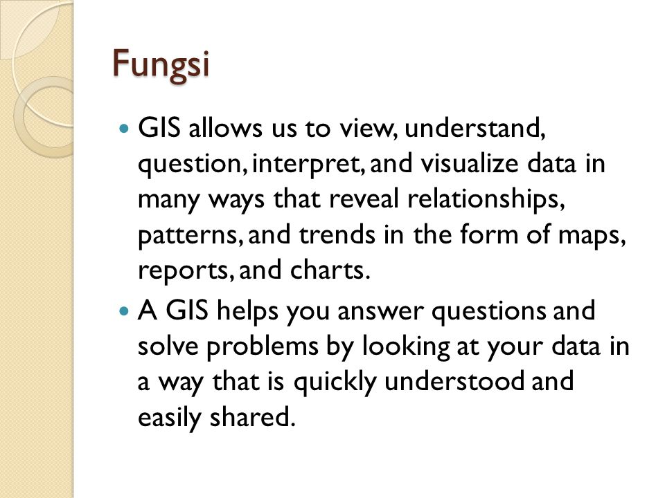 Referensi 1.Chang, K.-Tsung. 2008. Introduction to Geographic Information Systems.
