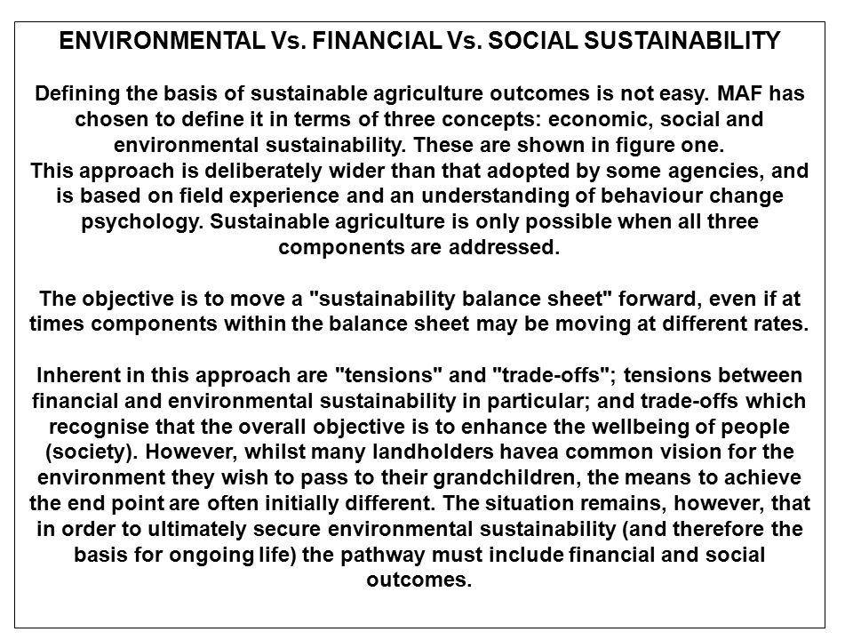 Sustainable agriculture adalah penerapan praktek dan sistem yang mampu menjaga atau memperbaiki: 1.
