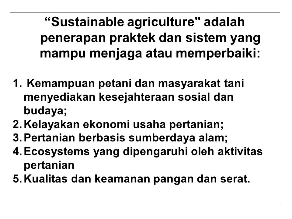 Seven Dimensions of Sustainable Agriculture by Nicanor Perlas