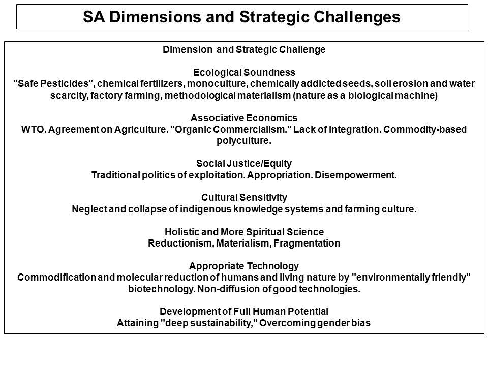 ENVIRONMENTAL SUSTAINABILITY SUSTAINABLE SOIL MANAGEMENT