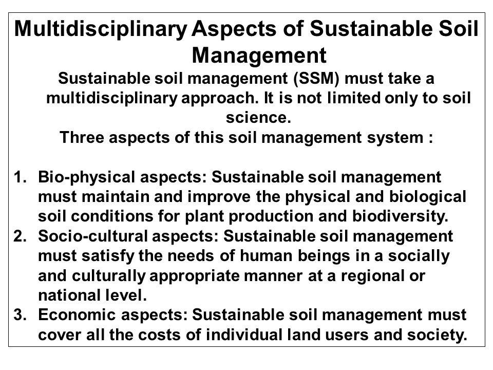 SEBAB-SEBAB DEGRADASI TANAH Permasalahan dalam Pengelolaan sumberdaya tanah secara berkelanjutan: 1.Deplesi dan defisiensi unsur hara; 2.Erosi Tanah dan Degradasi Lahan; 3.Harga-harga sosial-ekonomi dan Pemasaran; 4.Penggunaan air yang tidak efisien; 5.Metode penelitian yang rumit; 6.Usaha pertanian yang tidak berkelanjutan; 7.Kemasaman Tanah; 8.Teknologi inovasi yang tidak diadopsi oleh petani; 9.Kompetisi penggunaan air; 10.