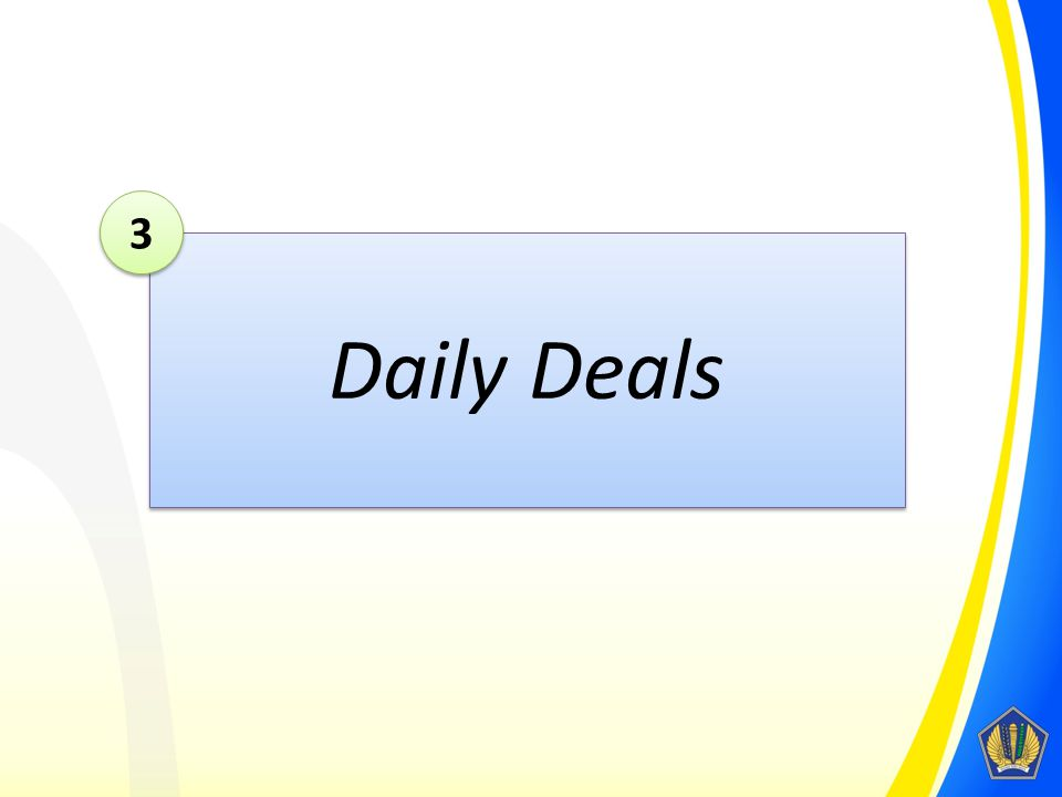 Daily Deals 3 3